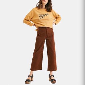 NWT Free People Patti Cropped Wide Leg Pant 26 27